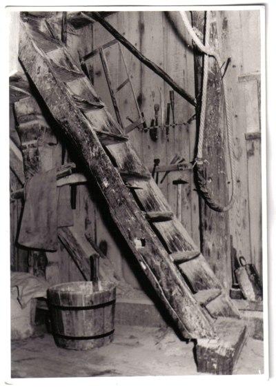 Jeetzer Bockwindmuehle Altmark Treppe im Inneren historisch